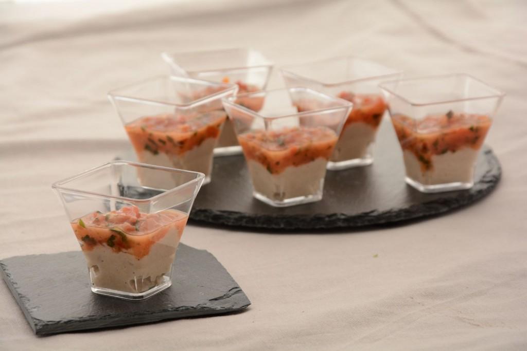 Verrine tartare de tomates et thon